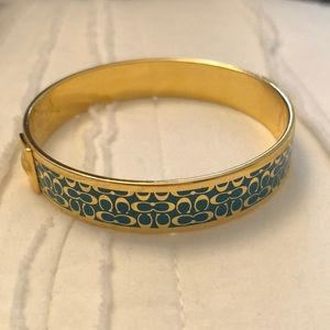 Gold and turquoise authentic bangle